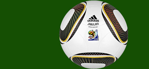 The Adidas Jabulani ball for the 2010 FIFA World Cup in South Africa.