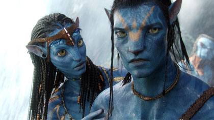 Na'vi characters in the movie 'Avatar' use an internally consistent artificial language created for the film.