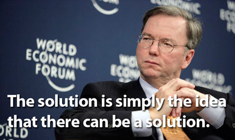 Photograph of Eric Schmidt at World Economic Forum 2007. Copyright World Economic Forum (www.weforum.org) and swiss-image.ch. Photo by Severin Nowacki.