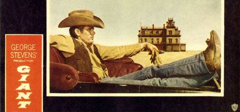 James Dean in an iconic movie poster from the movie 'Giant'