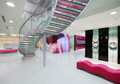 Mary Kay China headquarters in Shanghai; interior design by Gensler.