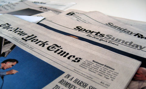 The New York Times -- a comparison of digital and print news presentation