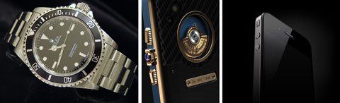 The Rolex Submariner, the Ulysse Nardin Chairman and the Apple iPhone 4.