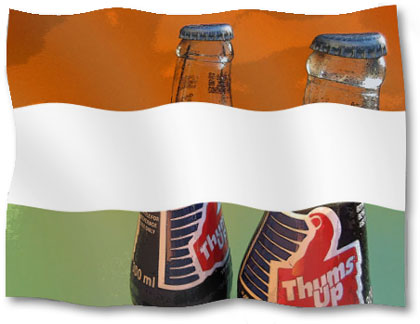 Thums Up might as well be the national soft drink of India.